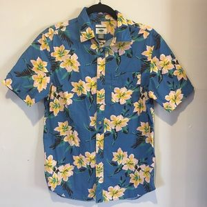 OLD NAVY Mens Hawaiian Button Down Shirt